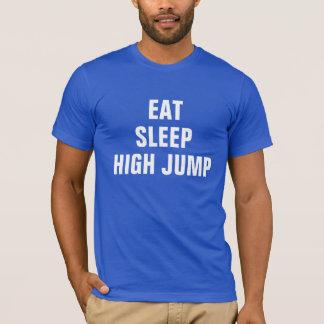 Essen Sie Schlaf Hochsprung T-Shirt