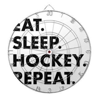 Essen Sie Schlaf-Hockey-Wiederholung Dartscheibe