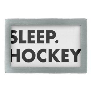Essen Sie Schlaf-Hockey-Wiederholung Rechteckige Gürtelschnalle