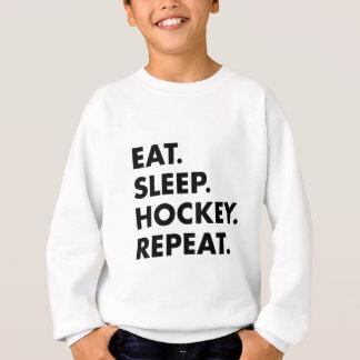 Essen Sie Schlaf-Hockey-Wiederholung Sweatshirt