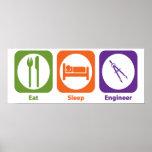 Essen Sie Schlaf-Ingenieur Posterdruck