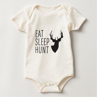 Essen Sie Schlaf-Jagd Baby Strampler