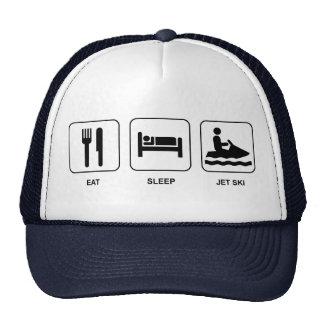 Essen Sie Schlaf-Jet-Ski Netzmützen