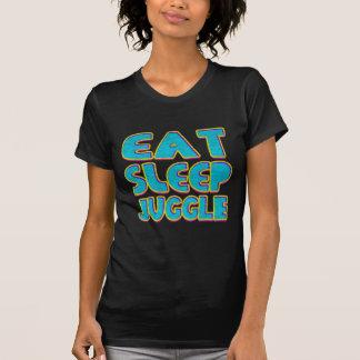 Essen Sie Schlaf jonglieren T-Shirt