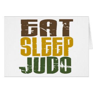 Essen Sie Schlaf-Judo 1 Karte