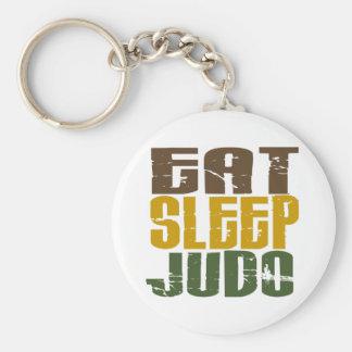 Essen Sie Schlaf-Judo 1 Standard Runder Schlüsselanhänger