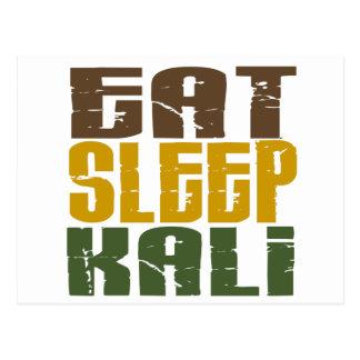 Essen Sie Schlaf Kali 1 Postkarte