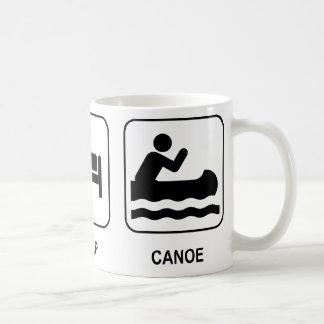 Essen Sie Schlaf-Kanu Tasse