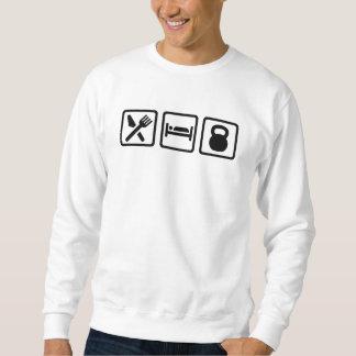Essen Sie Schlaf Kettlebell Sweatshirt