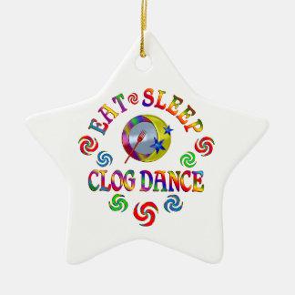 Essen Sie Schlaf-Klotz-Tanz Keramik Stern-Ornament