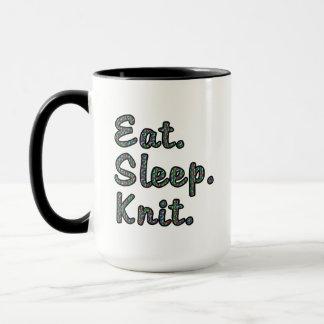 Essen Sie. Schlaf. Knit. Tasse