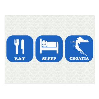 Essen Sie Schlaf Kroatien Postkarte