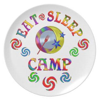 Essen Sie Schlaf-Lager Melaminteller