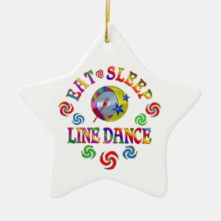 Essen Sie Schlaf-Linie Tanz Keramik Stern-Ornament