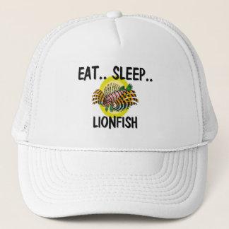 Essen Sie Schlaf LIONFISH Truckerkappe