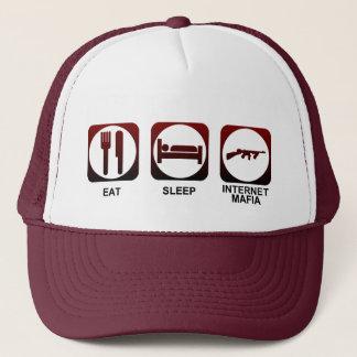 Essen Sie Schlaf-Mafia Truckerkappe