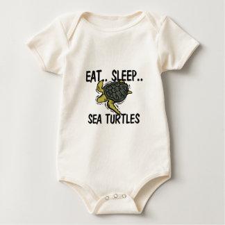 Essen Sie Schlaf MEERESSCHILDKRÖTEN Baby Strampler