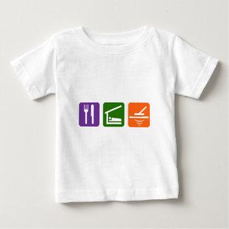 Essen Sie Schlaf-Metalldetektor Baby T-shirt