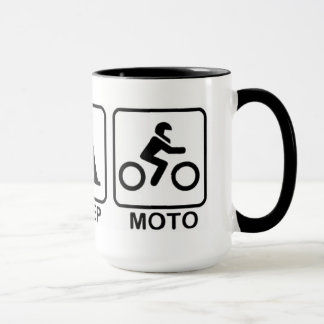 Essen Sie Schlaf Moto Tasse
