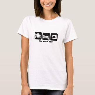 Essen Sie Schlaf nähen T-Shirt
