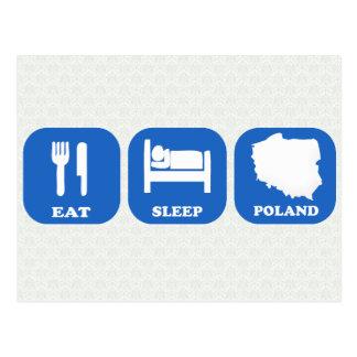 Essen Sie Schlaf Polen Postkarte