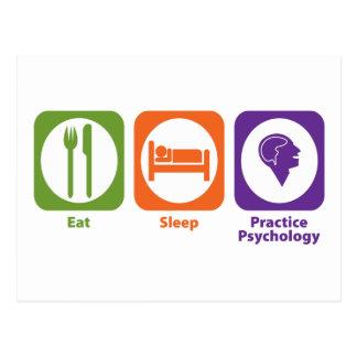 Essen Sie Schlaf-Praxis-Psychologie Postkarte