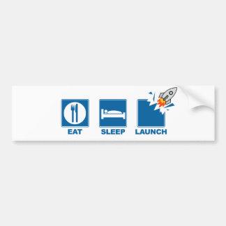 Essen Sie Schlaf-Produkteinführung Autoaufkleber