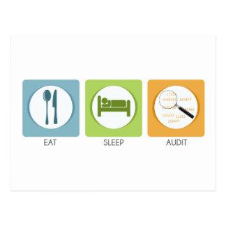 Essen Sie Schlaf-Rechnungsprüfung! Postkarte