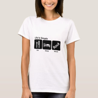 Essen Sie Schlaf Rockmusik T-Shirt