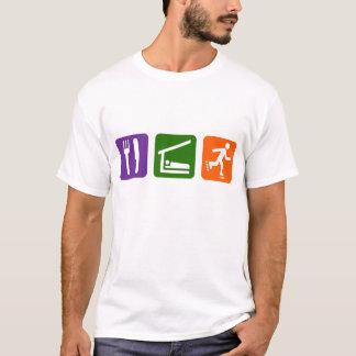Essen Sie Schlaf Rollerblading T-Shirt
