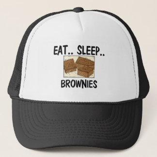 Essen Sie Schlaf SCHOKOLADENKUCHEN Truckerkappe