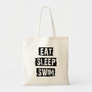 Essen Sie Schlaf-Schwimmen Budget Stoffbeutel