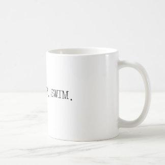 Essen Sie Schlaf-Schwimmen Kaffeetasse