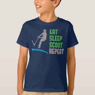 Essen Sie Schlaf SCOOT Wiederholung, T-Shirt
