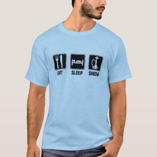Essen Sie Schlaf Shisha T-Shirt