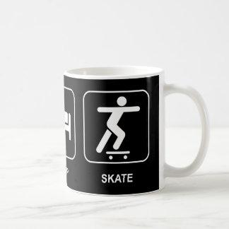 Essen Sie Schlaf-Skate-Tasse