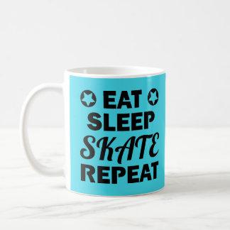 Essen Sie Schlaf-Skate-Wiederholung, Rolle Derby Kaffeetasse