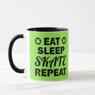 Essen Sie Schlaf-Skate-Wiederholung, Rolle Derby Tasse