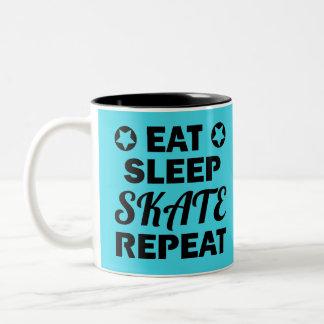 Essen Sie Schlaf-Skate-Wiederholung, Rolle Derby Zweifarbige Tasse