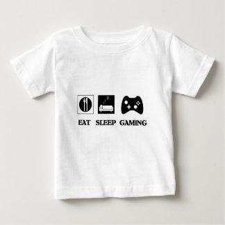 Essen Sie Schlaf-Spiel Baby T-shirt