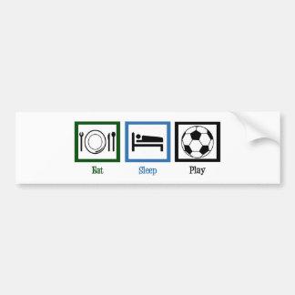 Essen Sie Schlaf-Spiel-Fußball Autoaufkleber