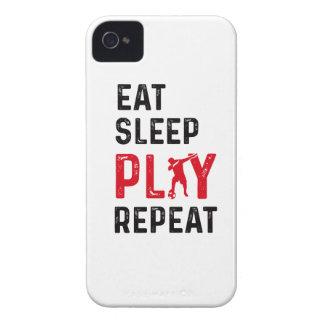 Essen Sie Schlaf-Spiel-Fußball-coolen Case-Mate iPhone 4 Hülle