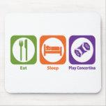 Essen Sie Schlaf-Spiel-Konzertina Mousepads