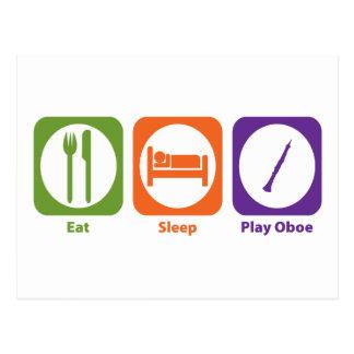 Essen Sie Schlaf-Spiel Oboe Postkarte