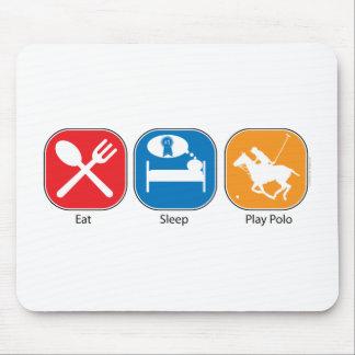 Essen Sie Schlaf-Spiel-Polo Mousepads