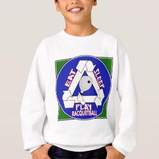 Essen Sie Schlaf-Spiel-Schläger-Ball Sweatshirt