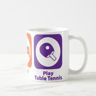 Essen Sie Schlaf-Spiel-Tischtennis Kaffeetasse