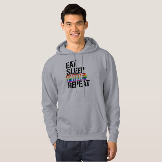 Essen Sie Schlaf-Stolz-Wiederholung - - LGBTQ Hoodie