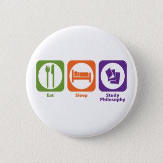 Essen Sie Schlaf-Studien-Philosophie Runder Button 5,1 Cm