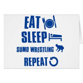 Essen Sie Schlaf Sumo-Wrestling Karte